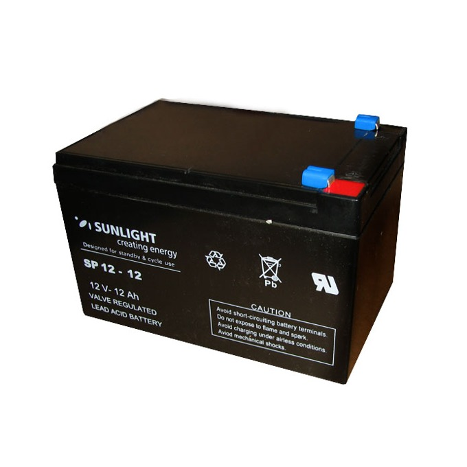 Акумулаторна батерия Sunlight VRLA SP 12-12, 12V, 12Ah image