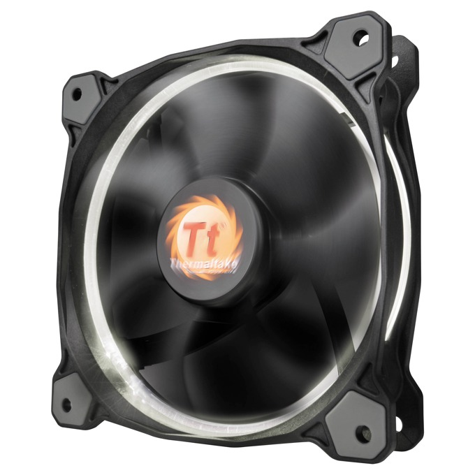 Вентилатор 120mm Thermaltake Riing 12 LED White, 3-пинов, 1500 rpm image