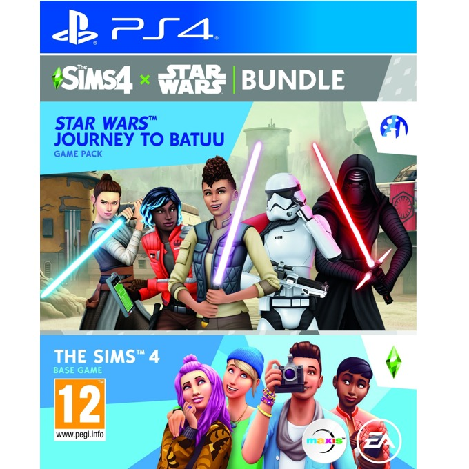 Игра за конзола The Sims 4 + Star Wars - Journey to Batuu Expansion Pack Bundle, за PS4 image