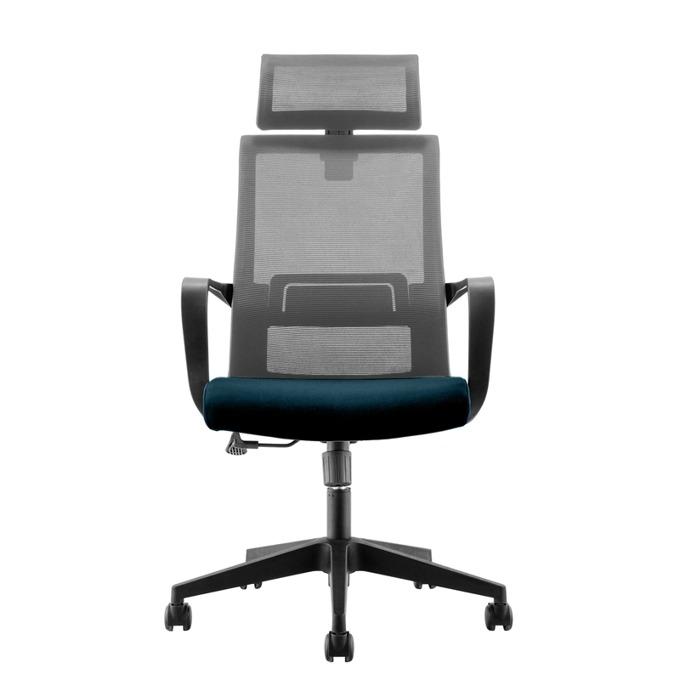 Директорски стол RFG Smart HB, дамаска и меш, сив image