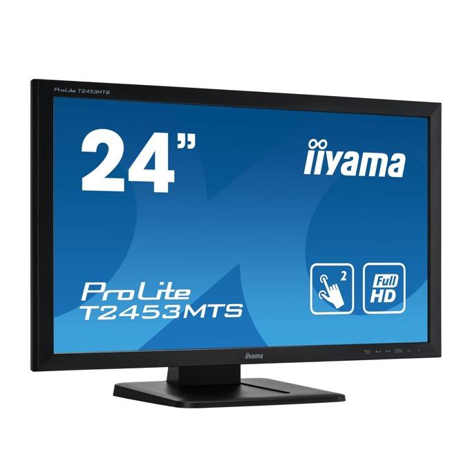 """Монитор Iiyama PROLITE T2453MTS-B1, 23.6"""" (59.94 cm) VA сензорен панел, Full HD, 4ms, 12 000 000:1, 250 cd/m2, HDMI, DVI, VGA, USB image"""