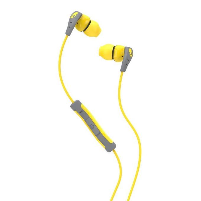 Слушалки Skullcandy Method (сив-жълт), водоустойчиви спортни, микрофон image