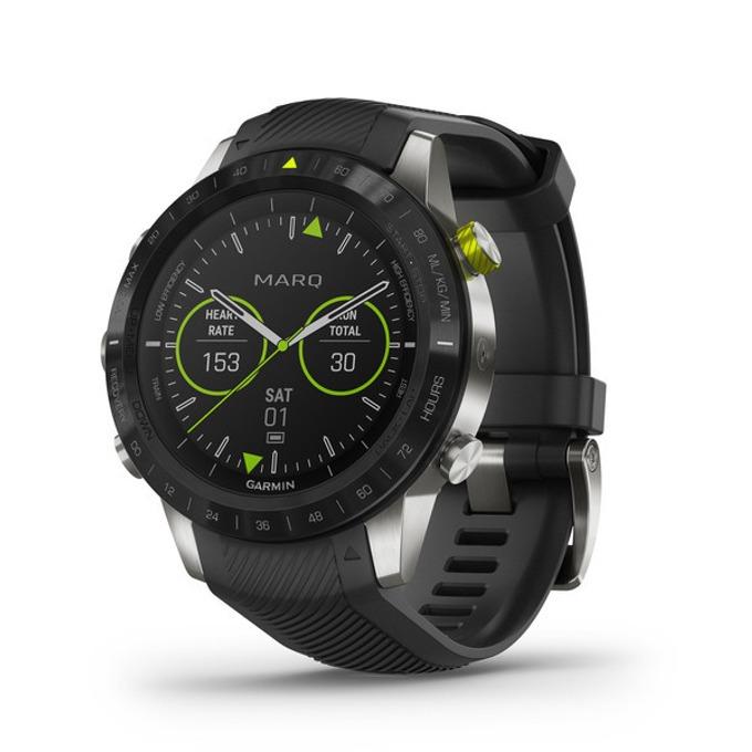 Смарт часовник Garmin MARQ™ Athlete, титаниев корпус, до 12 дни работа, Bluetooth, Wi-Fi, черен image