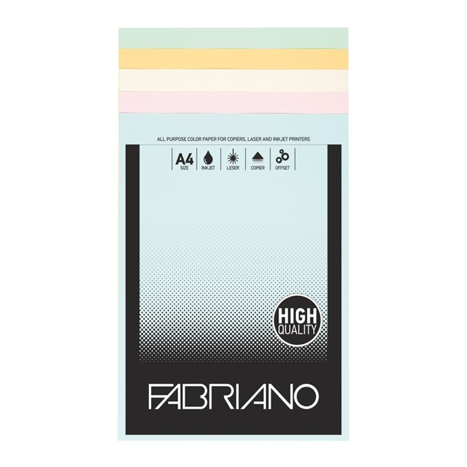 Fabriano A4, 160 g/m2, 4 цвята, 100 листа