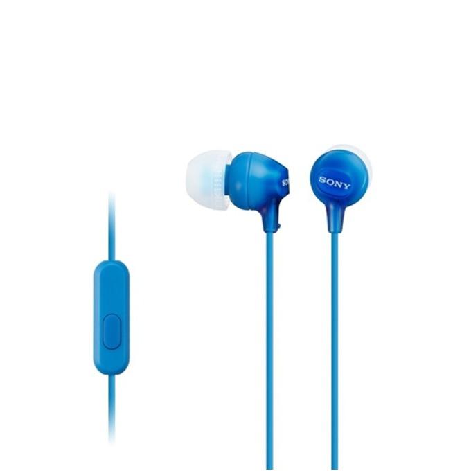 Слушалки Sony MDR-EX15AP, сини image