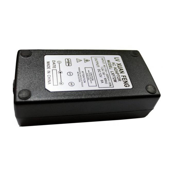 Захранващ адаптер за LCD монитори 12V/6.0A, жак 5.5/2.5мм image