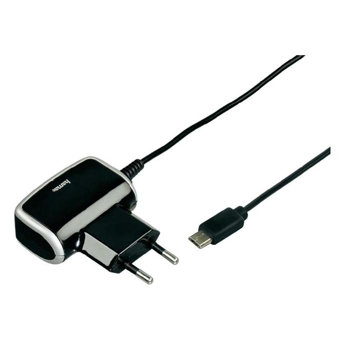 HAMA Quick & Travel Charger, зарядно за телефон, microUSB (м), 1000mA image