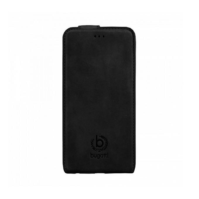 Калъф за Apple iPhone 6, отваряем, естествена кожа, Bugatti FlipCover Madrid, черен image