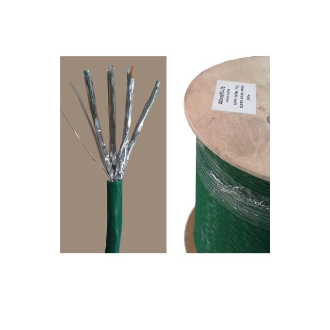 Кабел ACnetPLUS U/FTP Solid 23AWG, U/FTP, Cat 6a, ролка 500m, зелен image