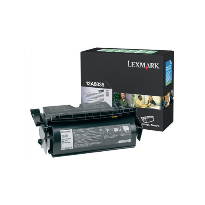 КАСЕТА ЗА LEXMARK OPTRA T 520/522 - Return program cartridge - P№ 12A6835 - заб.: 20000k image