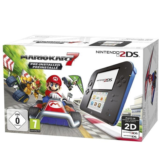 Nintendo 2DS + Mario Kart 7 - Black Blue product