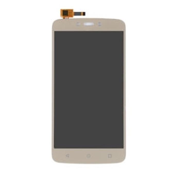 Дисплей за Motorola Moto C Plus, LCD, с тъч, златист image