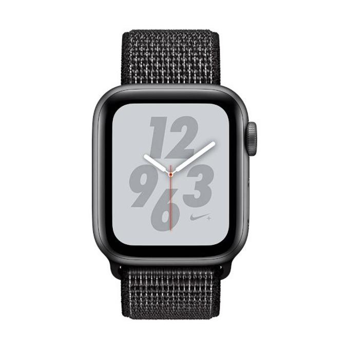 Смарт часовник Apple Watch Nike+ S4 44mm, OLED дисплей, водоустойчив, спортна каишка, черен image