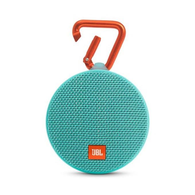 Тонколона JBL Clip 2, 1.0, 3W RMS, 3.5mm jack/Bluetooth, синьо/зелен, микрофон, IPX7, до 8 часа работа image