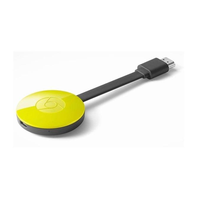 Медиа плейър Chromecast 2, Wi-Fi, Micro USB, HDMI, жълт image