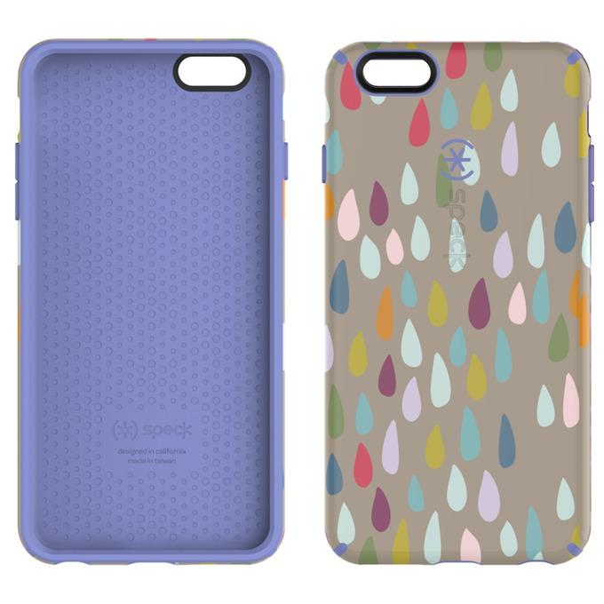 Страничен протектор с гръб Speck CandyShell Inked за iPhone 6S Plus, син с щампа image