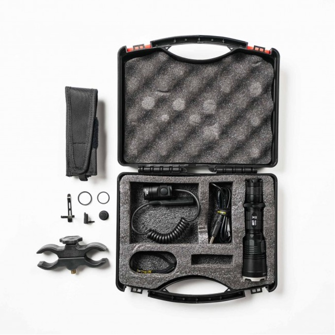 Ловен комплект Nitecore MH27 Hunting Kit, включва фенер, 1x Li-Ion батерия, USB кабел, дистанционен спусък, крепеж за оръжие, връзка за ръка, калъф image