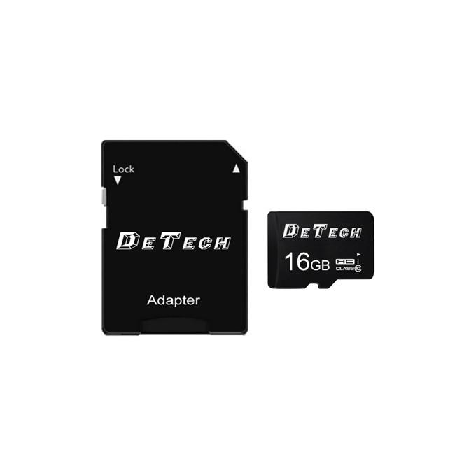 Карта памет 16GB microSDHC, DeTech, Class 10, с адаптер image