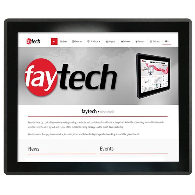 """Индустриален монитор FAYTECH FT19TMBCAP, 19""""(48.26 cm), SXGA LED, VGA, HDMI, DVI-D image"""