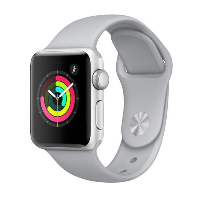 "Смарт часовник Apple Watch Series 3, 1.65"" (4.19cm) OLED дисплей, до 18 часа работа, Bluetooth, Wi-Fi, GPS, водоустойчив, сребрист image"