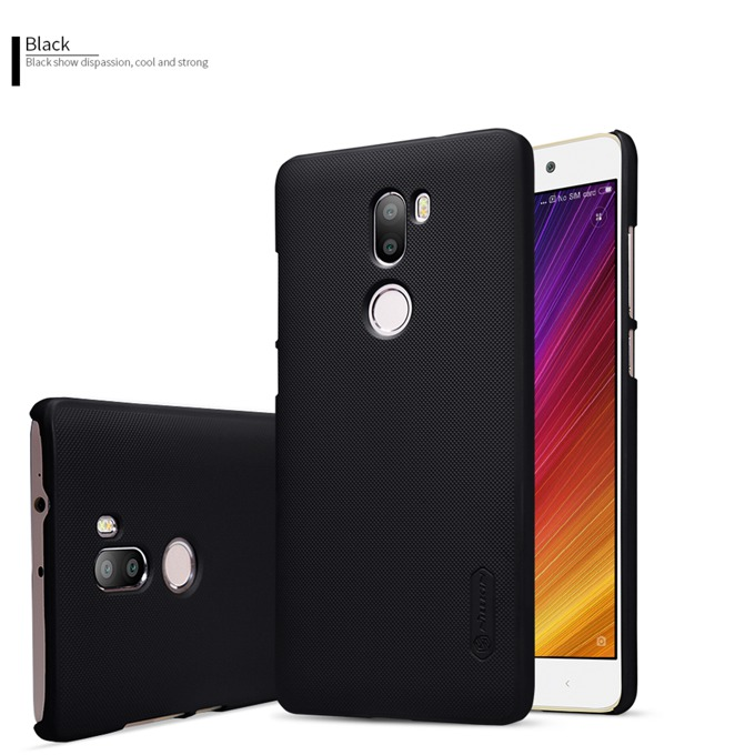 Калъф за Xiaomi Mi 5s Plus, страничен с гръб, пластмасов, Nillkin Super, удароустойчив, черен image