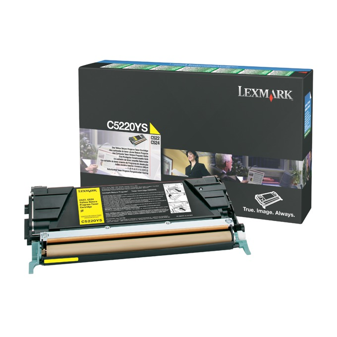 КАСЕТА ЗА LEXMARK OPTRA C 522/524/530/532/534 - Yellow - P№ C5222YS - заб.: 3000k image