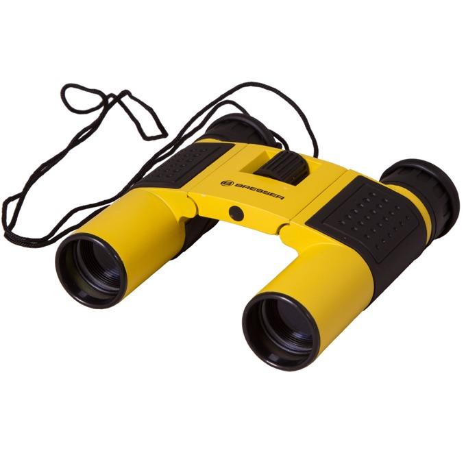 Бинокъл Bresser Topas 10x25, 10x оптично увеличение, диаметър на лещата 25mm, жълт image