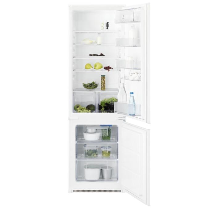 Хладилник с фризер Electrolux ENN2800BOW, клас A+, 268 л. общ обем, за вграждане, 291 kWh/годишно, бял image
