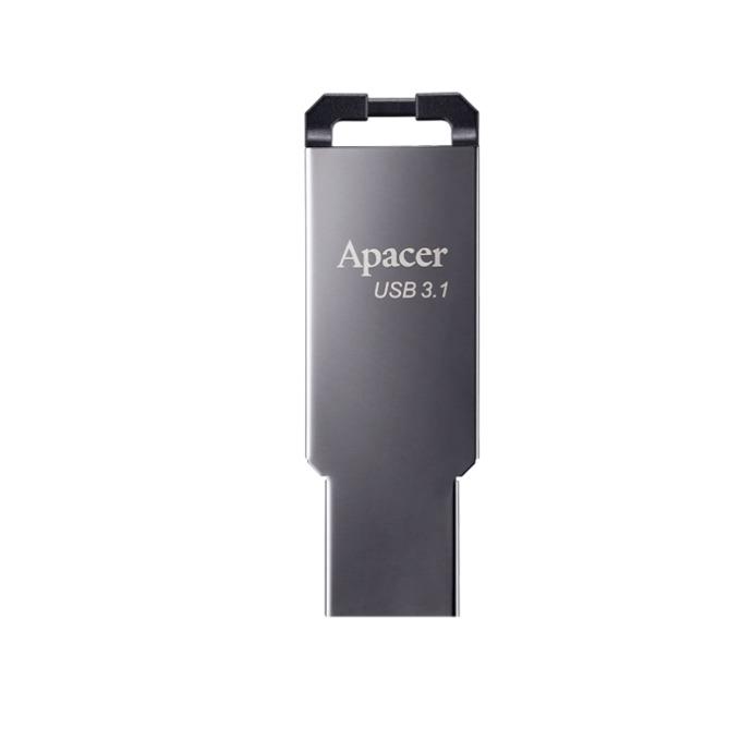 64GB USB Flash Drive, Apacer AH360, USB 3.1, сив image