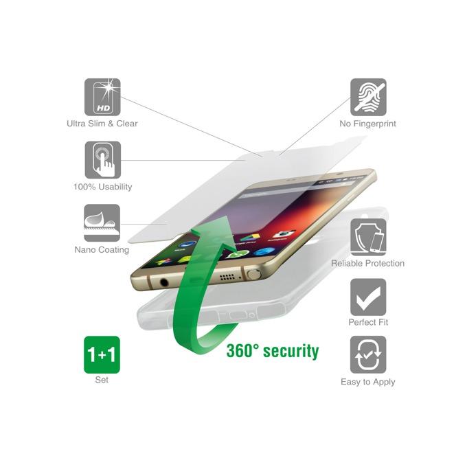 Протектор от закалено стъкло /Tempered Glass/, 4Smarts за Samsung Galaxy J1, в комплект с 4smart TPU кейс  image