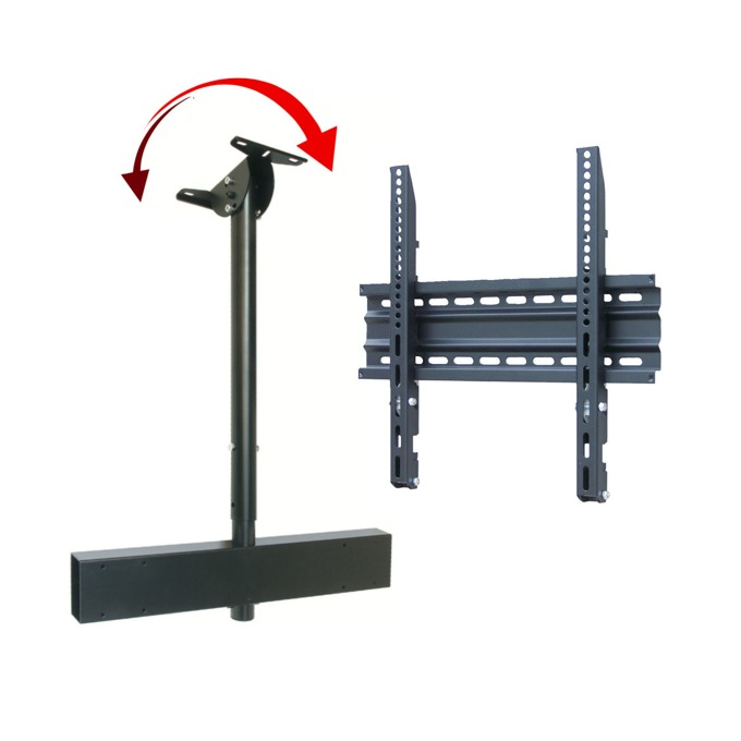 Стойка за дисплей OMB KIT LIFT ADJUSTABLE incl SLIM TILT 600, за таван, до 50кг, VESA до 600x400, регулируема, черна image