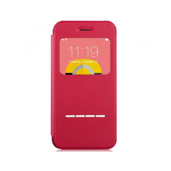 Калъф за Apple iPhone 6/6S, отваряем с прозорче, поликарбонат, Devia Active Folder, червен image