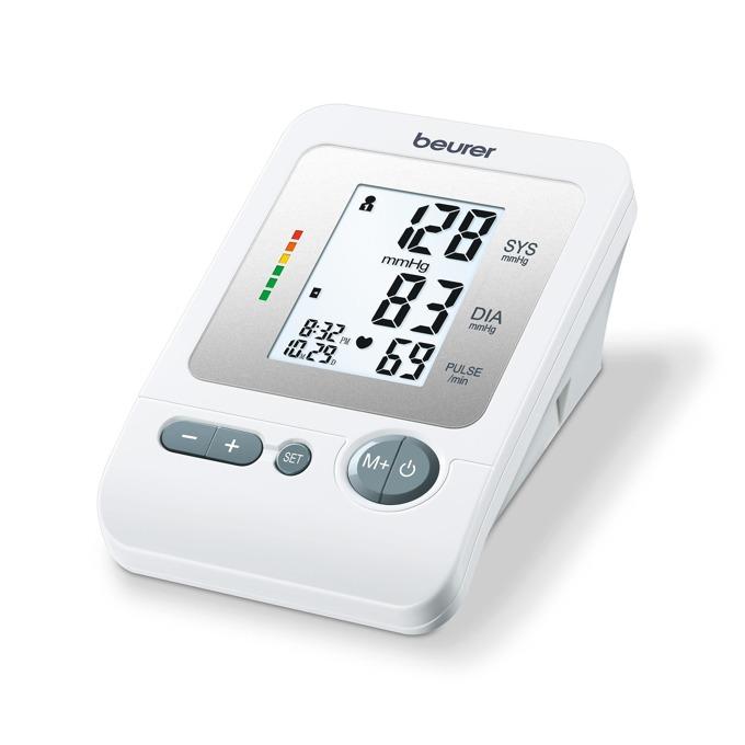 Апарат за кръвно налягане Beurer BM26, LCD дисплей, фукнция за индикация на високо кръвно налягане или аритмия, бял image