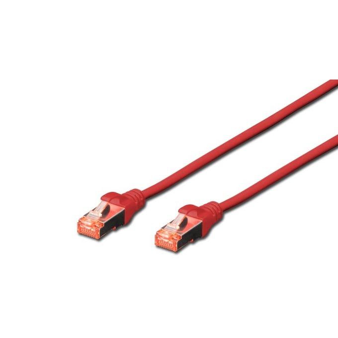 Пач кабел, Digitus, SFTP, Cat.6A, 0.5m, червен  image