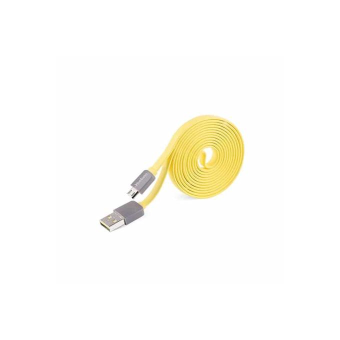 Кабел Yoobao, от USB 2.0 A (м) към USB Micro B (м), 1.5m, жълт image