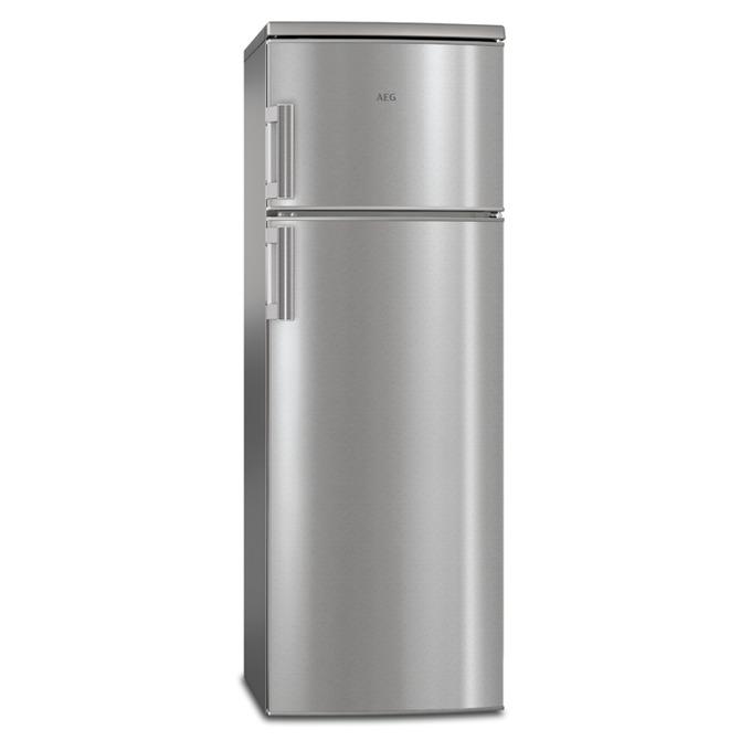 Хладилник с фризер AEG RDB72721AX, клас А++, 259 л. общ обем, свободностоящ, 197 kWh/годишно, вътрешно LED осветление, автоматично размрaзяване, инокс image