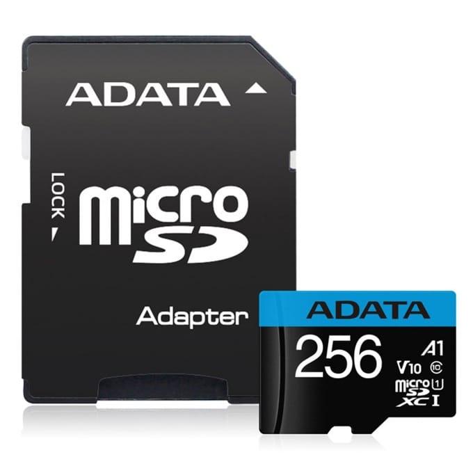 256GB microSDXC Adata Premier, Class 10 UHS-I, скорост на четене 100 MB/s, скорост на запис 25 MB/s image