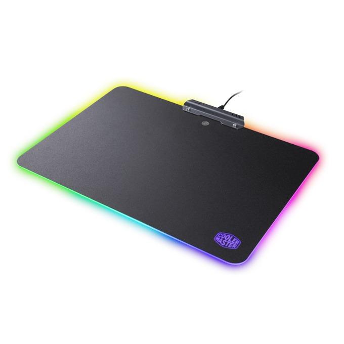 Подложка за мишка Cooler Master RGB Hard Gaming, гейминг, програмируема подсветка, алуминиева основа, USB, черна, 350 x 264 x 2мм image