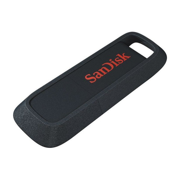 64GB USB Flash Drive, SanDisk Ultra Trek, USB 3.0, черна image