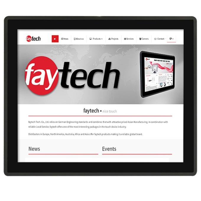"""Индустриален компютър FAYTECH FT19J1900W4G64GCAP, 19""""(48.26 cm), мулти-тъч сензорен дисплей, четириядрен Intel Celeron J1900 2.0/2.42GHz, 4GB DDR3L, 64GB SSD, 1x USB 3.0, Linux image"""