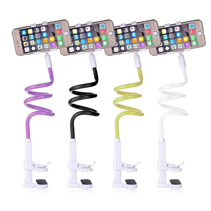 """Стойока/селфи стик Devia Universal Flexible Mobile Holder, гъвкава, за телефони до 6"""" (15.24 cm), лилава image"""