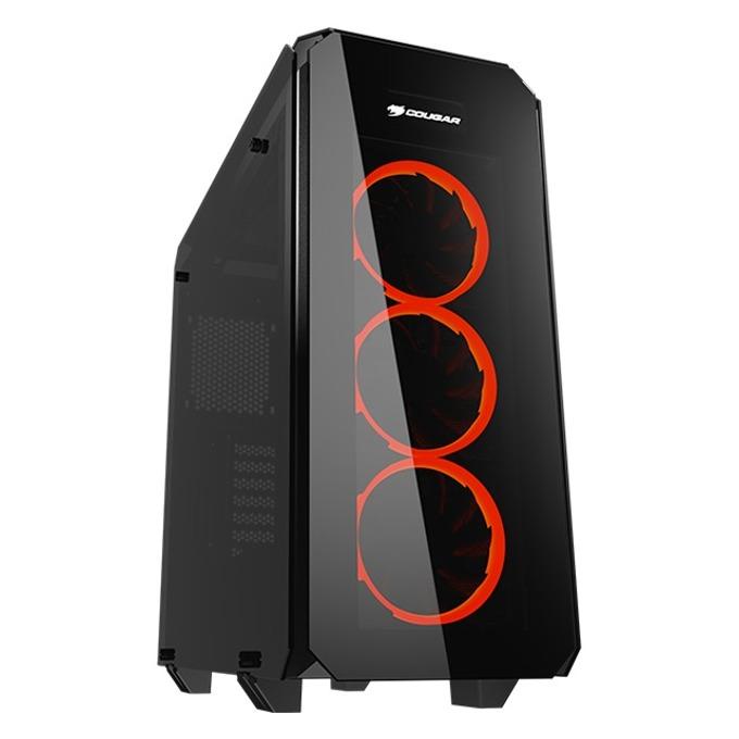 Кутия Cougar Gaming Puritas, Mini ITX/Micro ATX/ATX, 2x USB 3.0, прозорец със закалено стъкло, черна, без захранване image