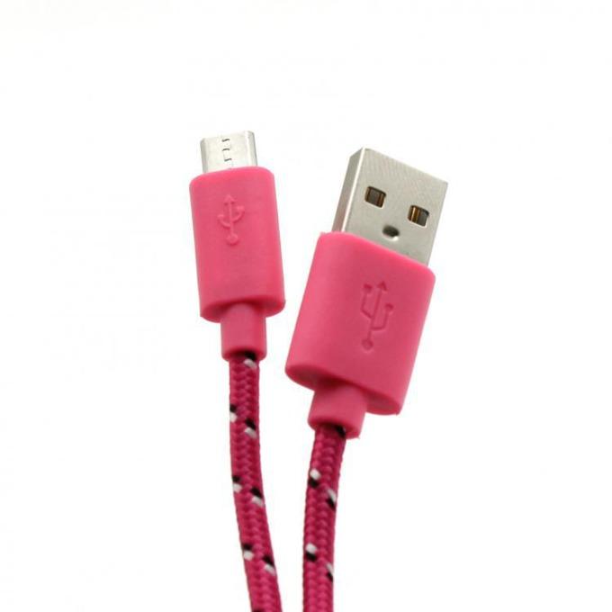 Кабел SBOX CP01-04-002P, USB A(м) към USB Micro B(м), 1m, розов image