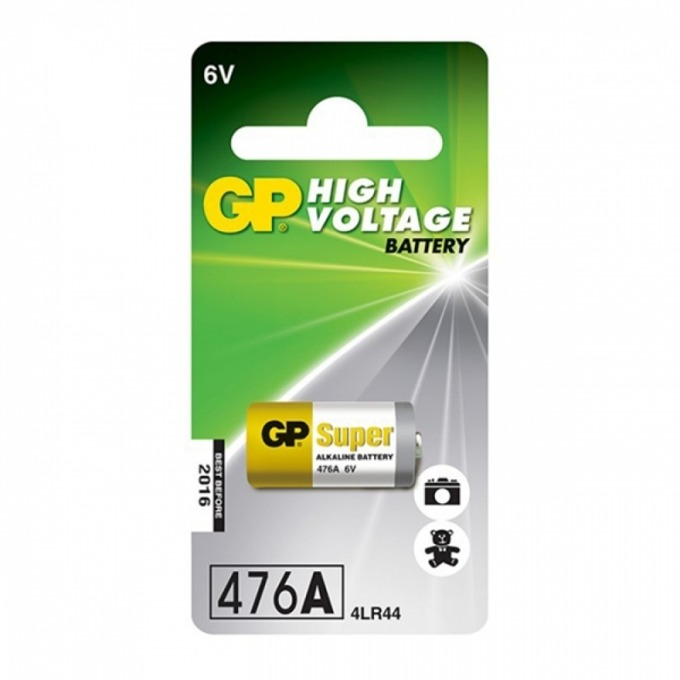 Батерия алкална GP High Voltage 4LR44, 6V, 1 бр. image