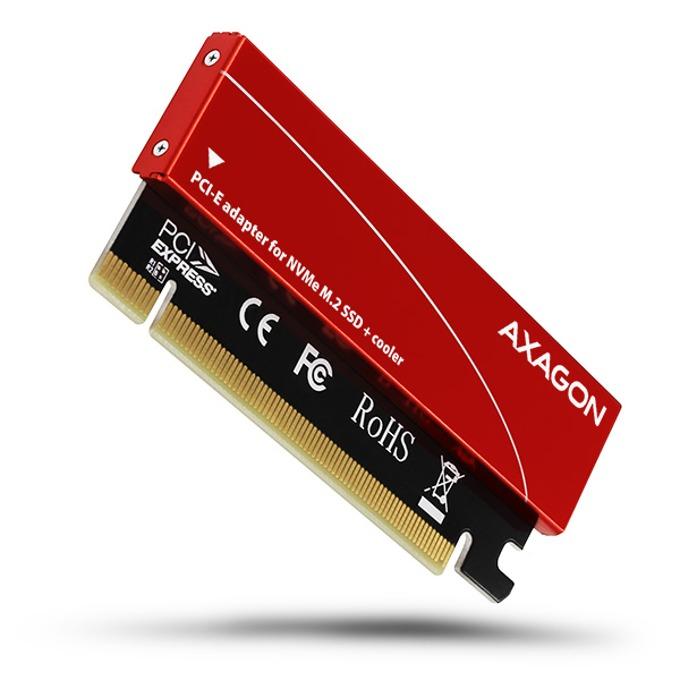 Преходник Axagon PCEM2-S, поддържа M.2 SSD(до 2280), от M.2 NVMe, към PCI-E 16x image