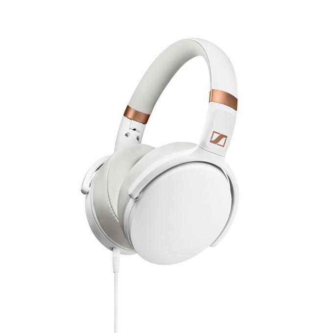 Слушалки Sennheiser HD 4.30G, микрофон, 32мм говорители, сгъваеми, динамичен бас, сменяем кабел с ъглов 3.5мм жак, бързи бутони, бели image