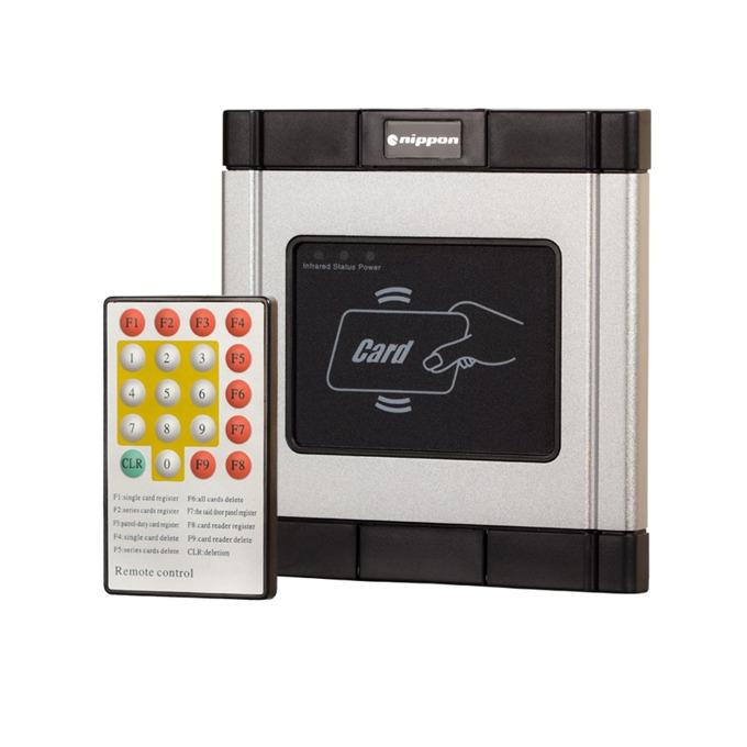 Nippon ECK-03, терминал с четец, за вграждане, алуминиев, управление на електронна брава, дистанционно управление, до 4000 карти image