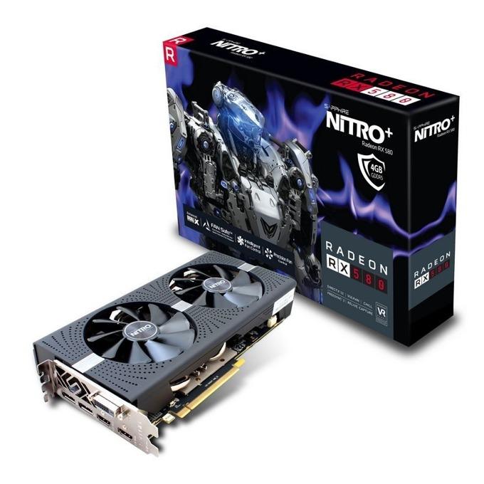 Видео карта AMD Raedon RX 580, 4GB, Sapphire Nitro + RX 580 4G G5 L, PCI-E 3.0, GDDR5, 256-bit, HMDMI, DVI, DisplayPort image