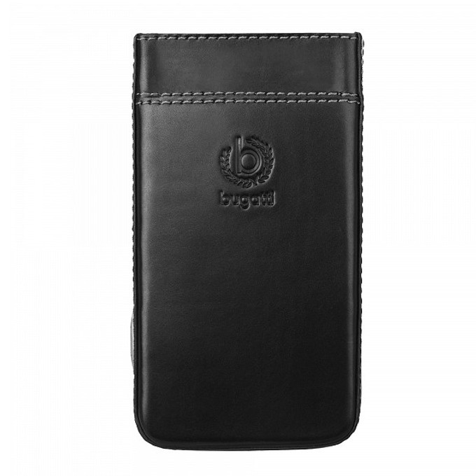 Калъф за Sony Xperia Z2, естествена кожа, Bugatti Perfect Premium, черен image