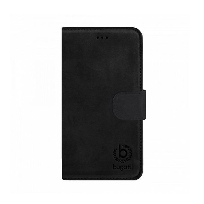 Калъф за Apple iPhone 6, отваряем, естествена кожа, Bugatti BookCover Madrid, черен image